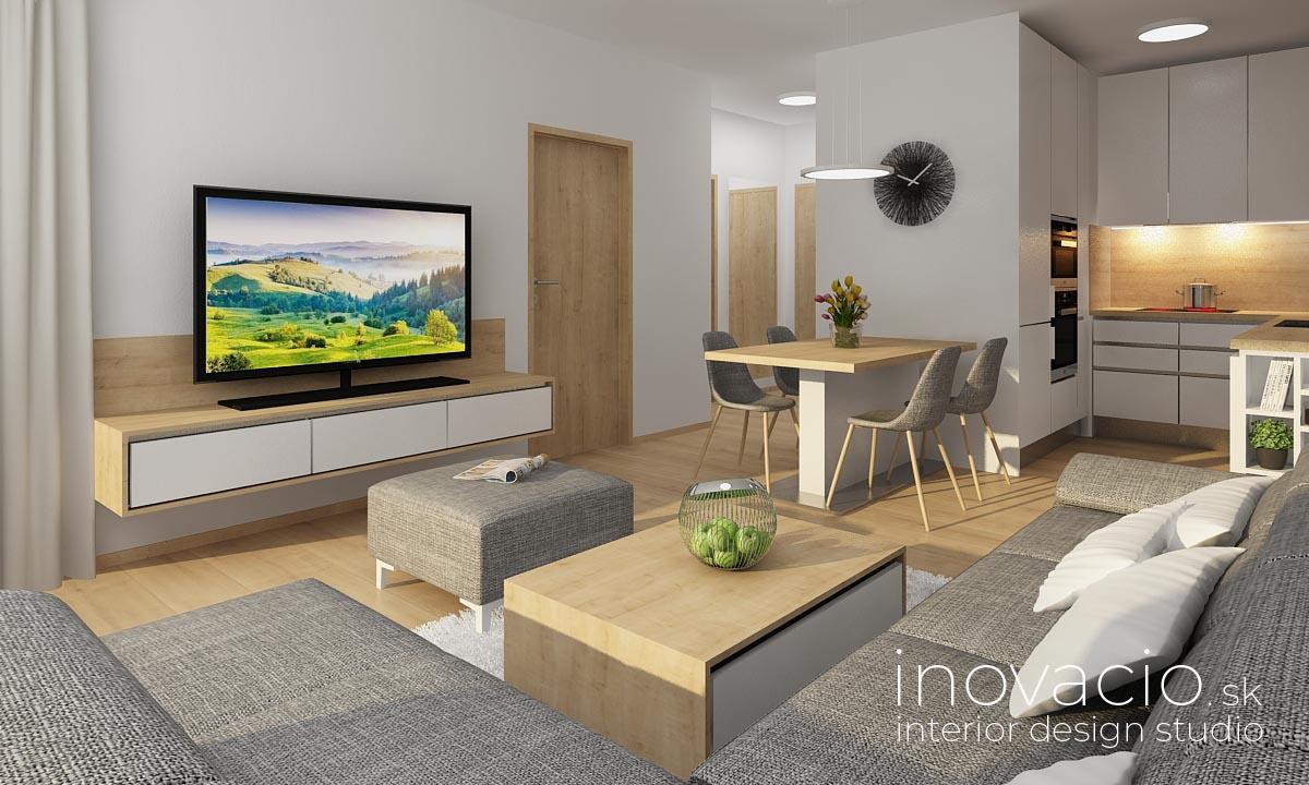 Interiér obývačky a kuchyne Nitra 2020 - rodinný dom - Obrázok č. 2