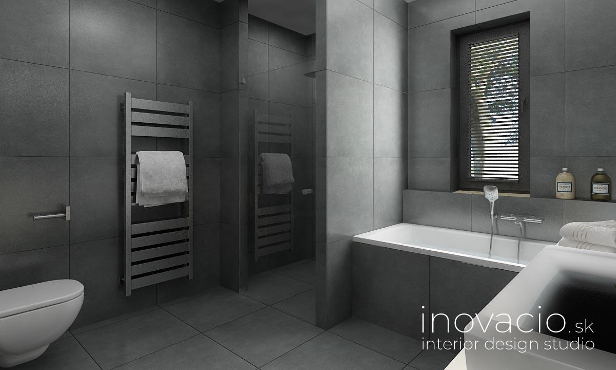 Interiér kúpeľne Malé Vozokany 2020 - rodinný dom - Obrázok č. 2