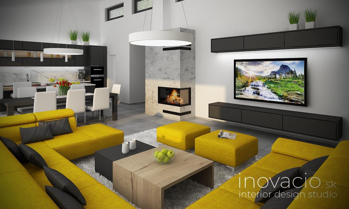 Interiér obývačky Nová Ves nad Žitavou 2020 - rodinný dom - Obrázok č. 1