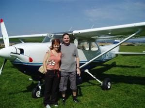 tady nás máte, dovolená září 2005 Český Ráj, byli jsme na vyhlídkovém letu