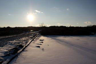 Západ slnka.