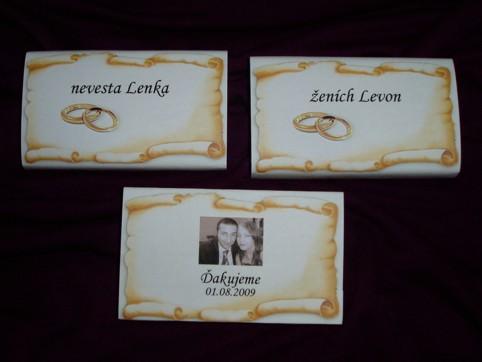 Svadobné a fialové - darčeky pre hostí