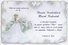 Svadobné a fialové - Svatební oznámení