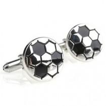 Inspirace pro M. - i manžetové knoflíčky :-) jako fotbalový míč