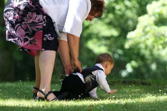 mamka chtěla malého upravit..nedal se :-)