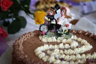 druhý dort..ten jsem zdobila jááá :-)