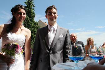přípitek novomanželům
