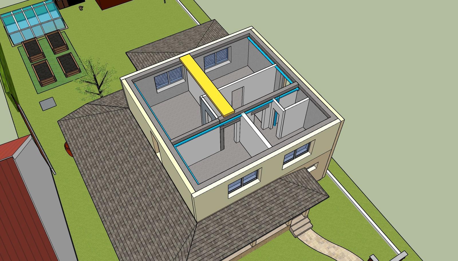 Optimal 1039, hrubá stavba - Poschodie