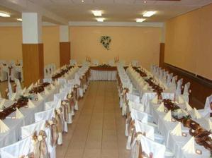 výzdoba svadobnej sály (p. Priekalová - Topoľčany)