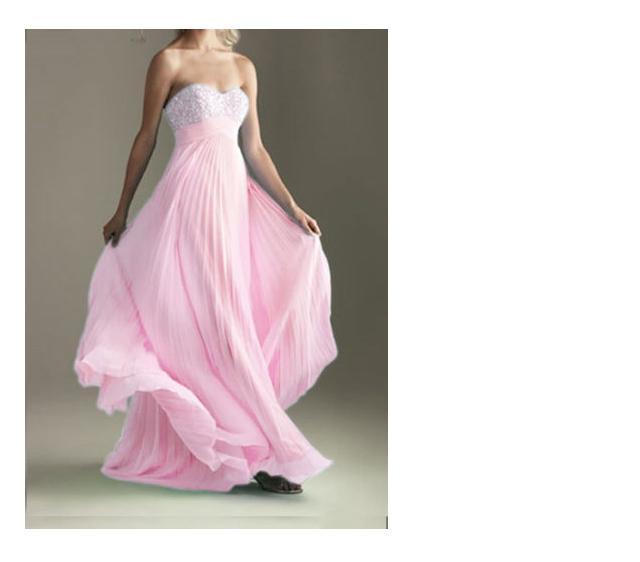 Přípravy - šaty pro svědkyni