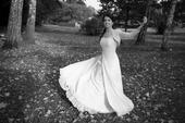 Jednoduché svatební šaty s perličkami, vel 36, 36