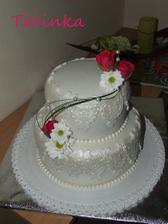 svadobný dar ( so živými kvietkami )