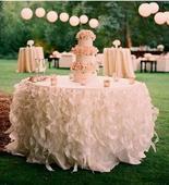 luxusné sukne na stoly (prenájom),