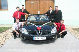 Ženichovo svatební autíčko