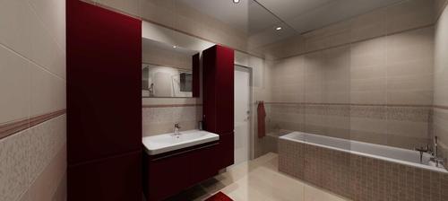 Vizualizace koupelny-pohled z WC