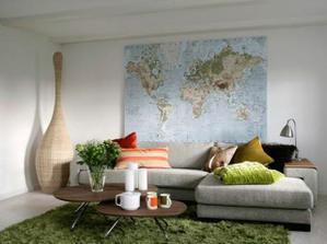 to je něco pro mého muže... mapa na stěně :))