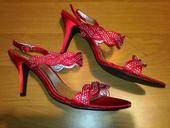 Neobyčajné červené sandále, 39