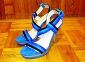 Luxusné tyrkysové sandále, 39