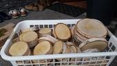 drevené kolieska/ podložky/ pláty,