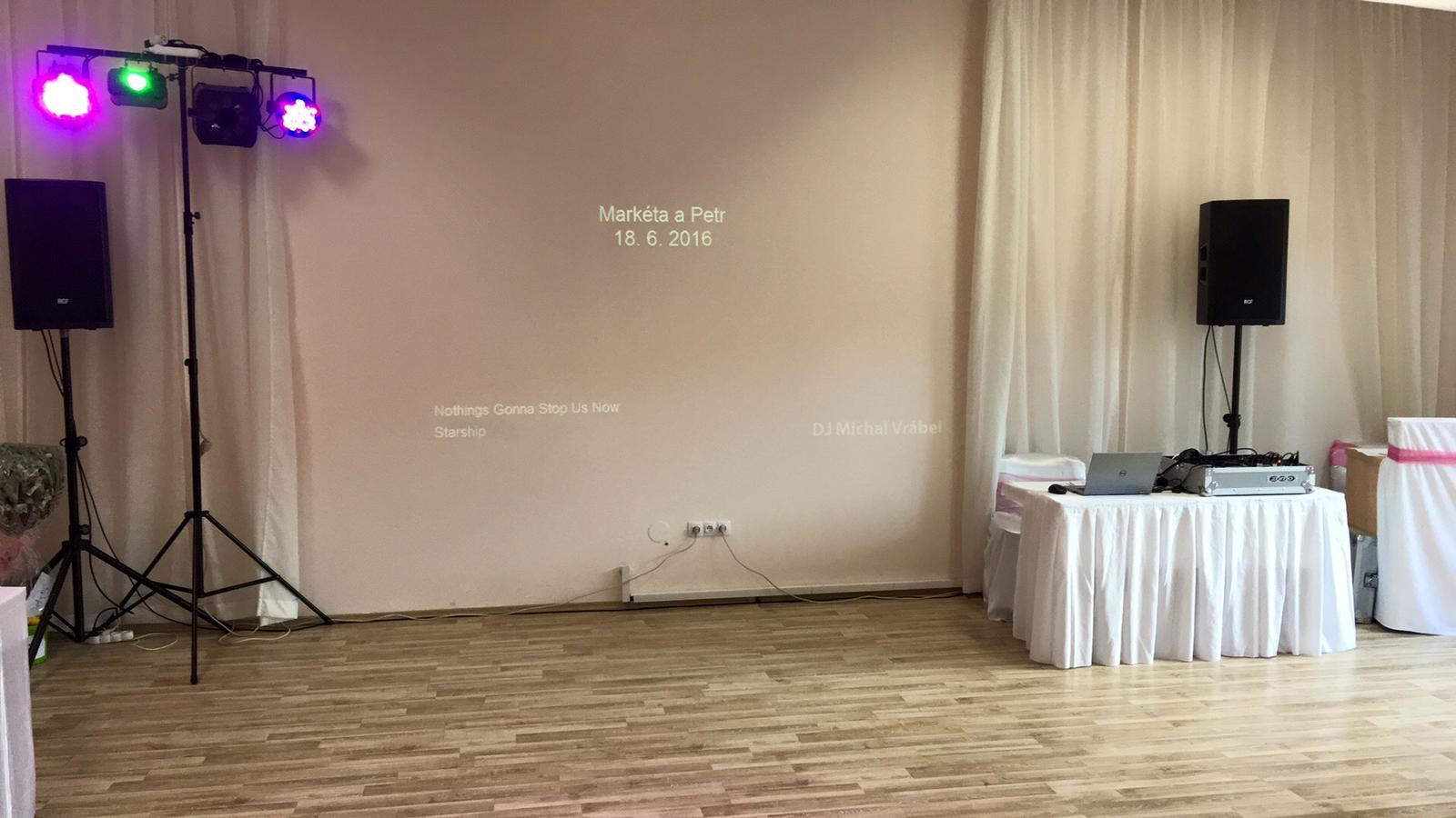 Nachystáno na párty:) - Hotel Lony, 1,5kW + videodisco