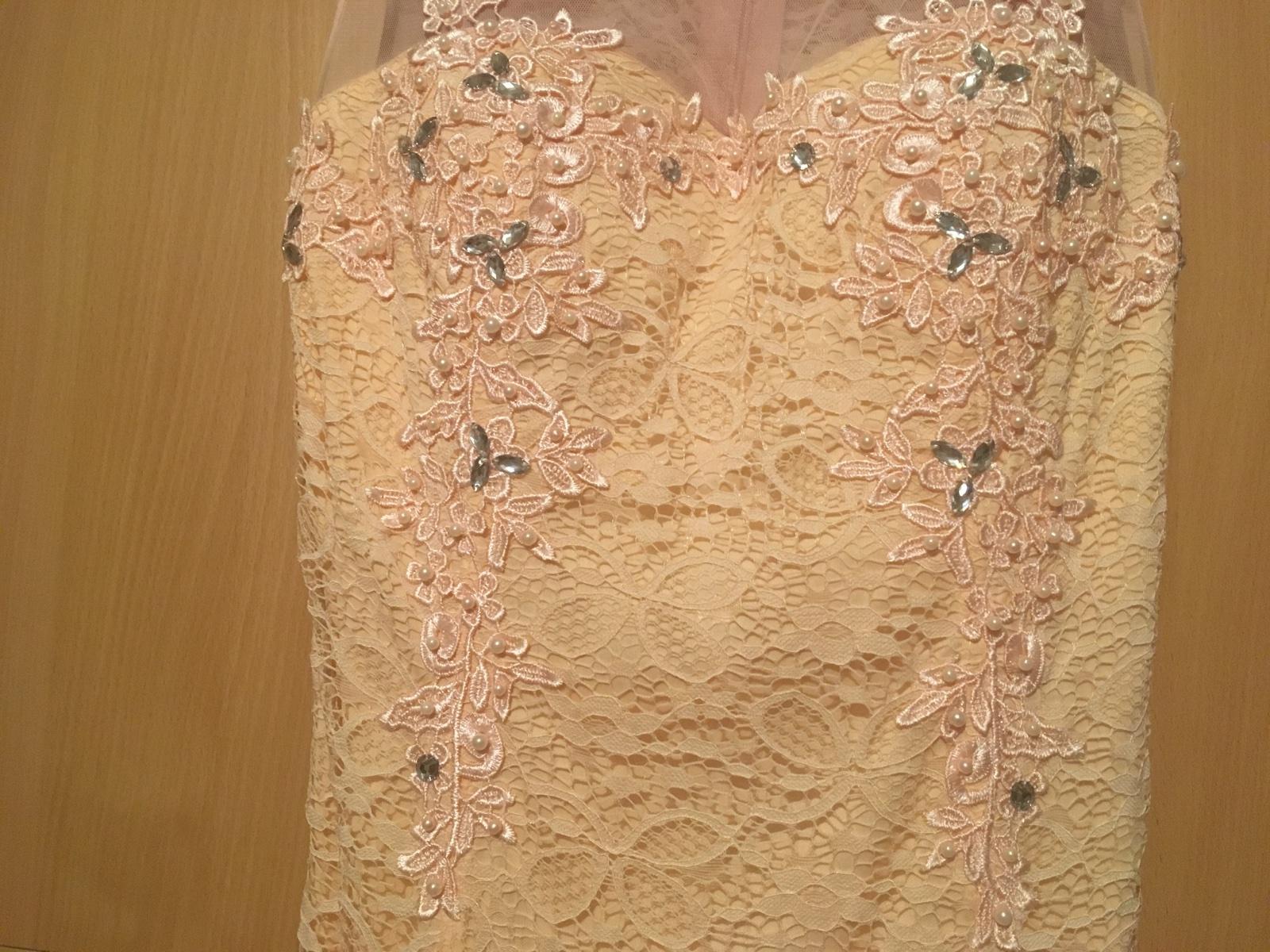 Čipkovane dlhé šaty  - Obrázok č. 4