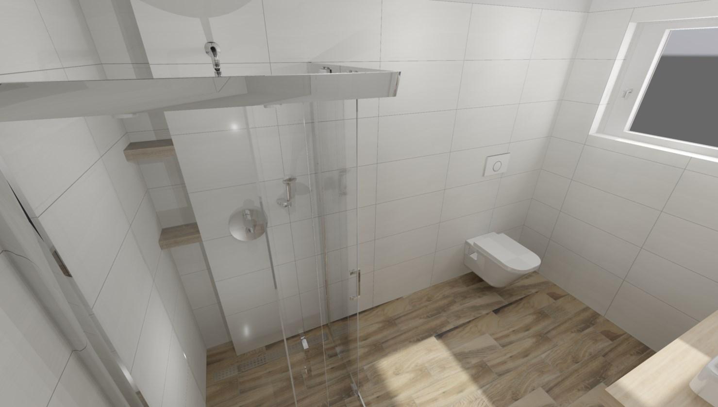 Pasivní domeček - Návrh koupelen ze Sika. Obklady jsme vybrali Rako Boa