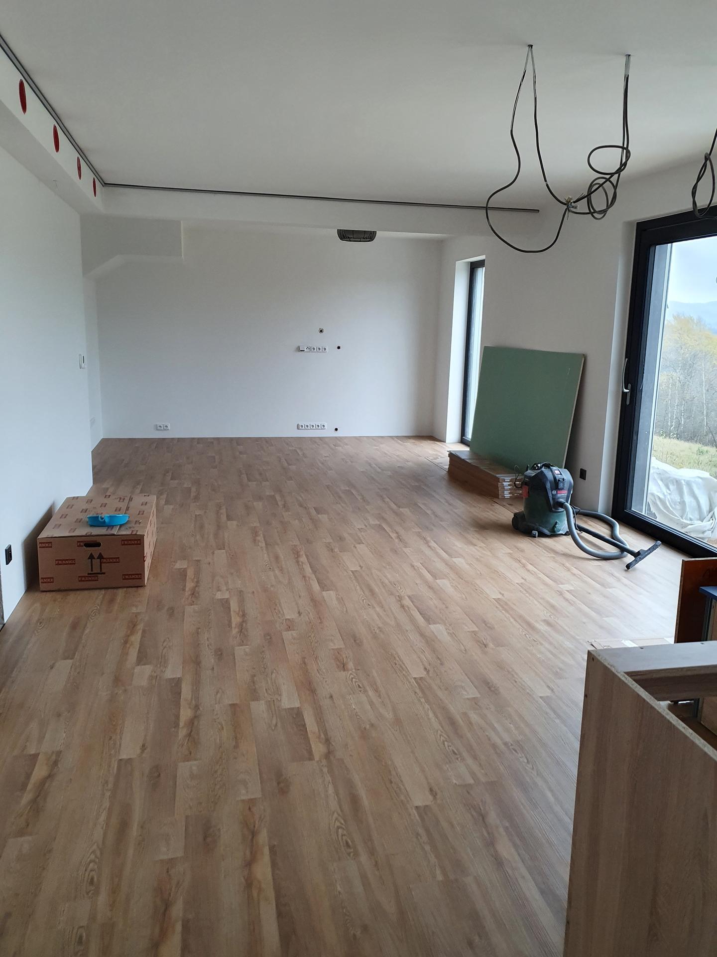 Pasivní domeček - Podlahy hotové