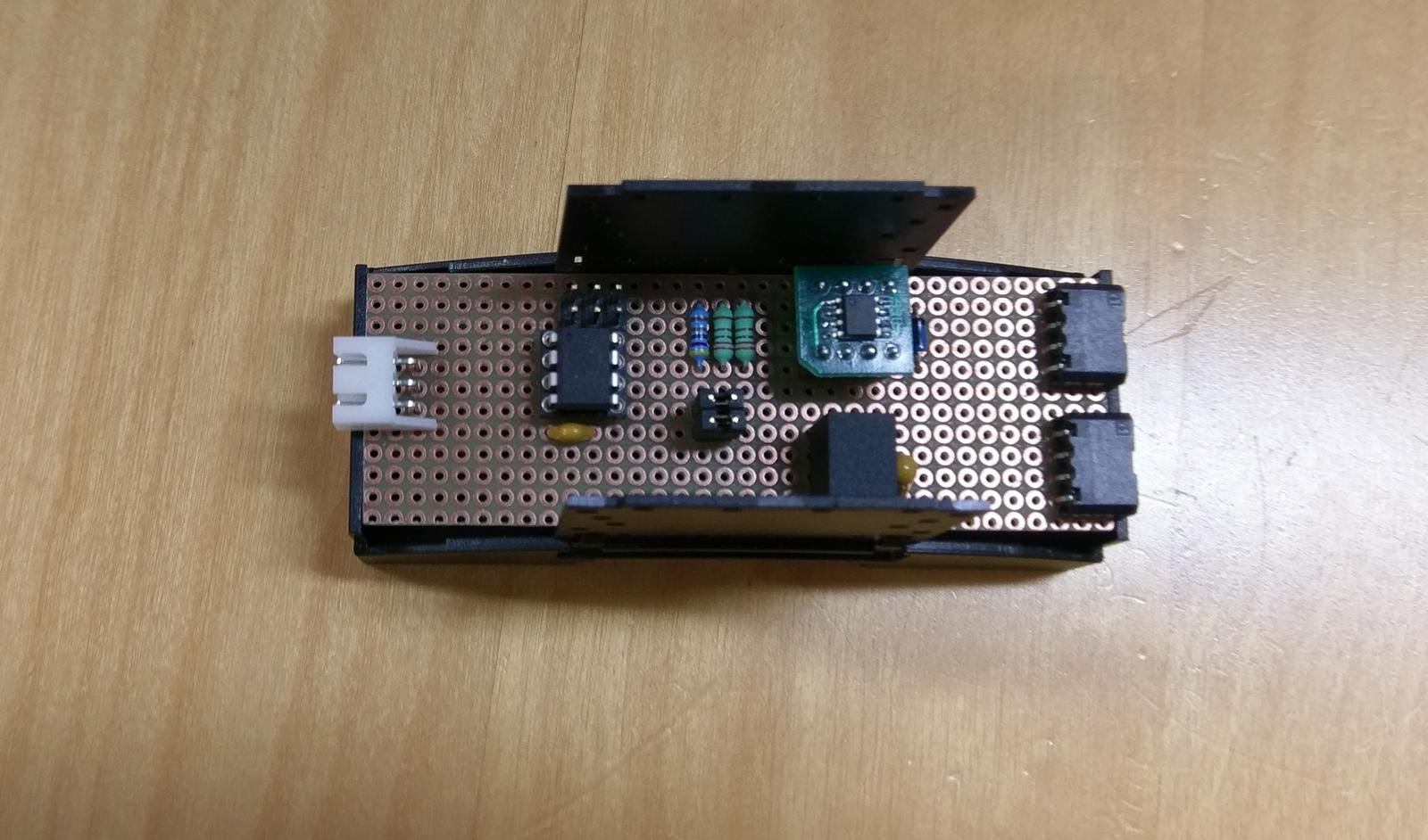 LogomatIQ - Modul pre snimania vykonu/spotreby z elektormera, prototyp