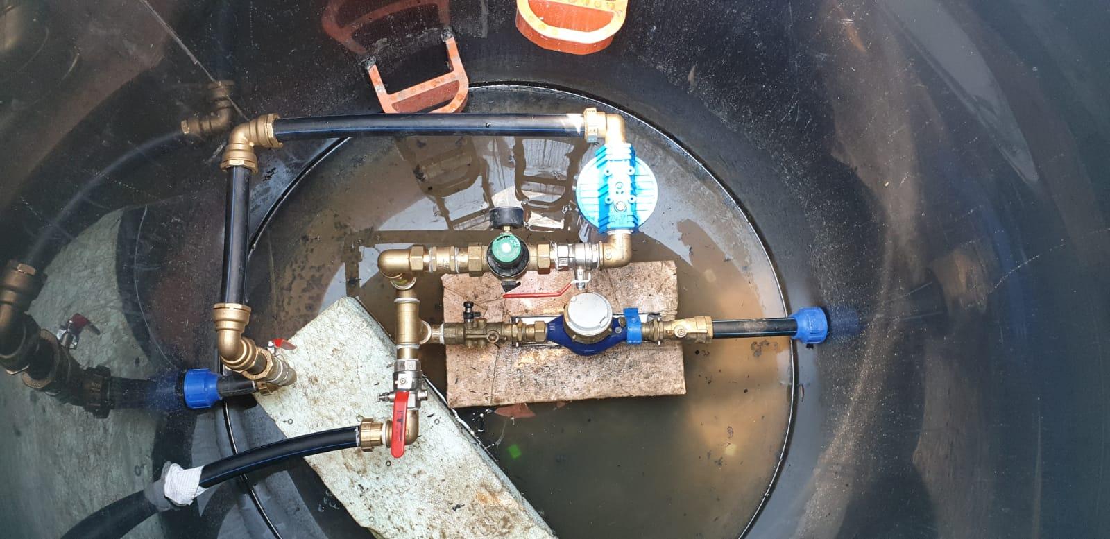 Dorabka pitnej vody k terase a filtra na prívode plus príprava na zmekcovac vody - Obrázok č. 8