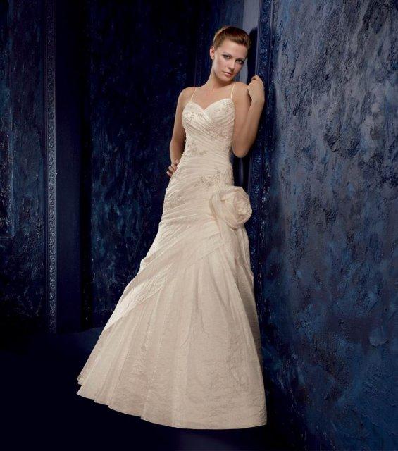 27.6.2009 - DANNI+VLADKO - Moje svadobné šaty z Princess,Po(na modelke)Moje budú bez ruže.