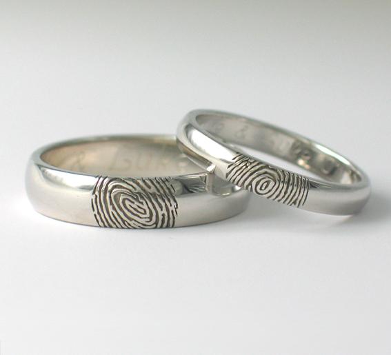 Svadobné obrúčky s gravírovaním odtlačkov prstov - 3Dzlatnictvo - Obrázok č. 1