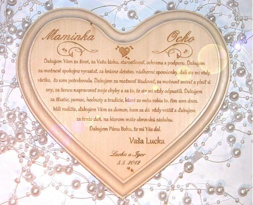 Čo sa mi páči :-) - Srdce pre rodičov, už len treba objednať