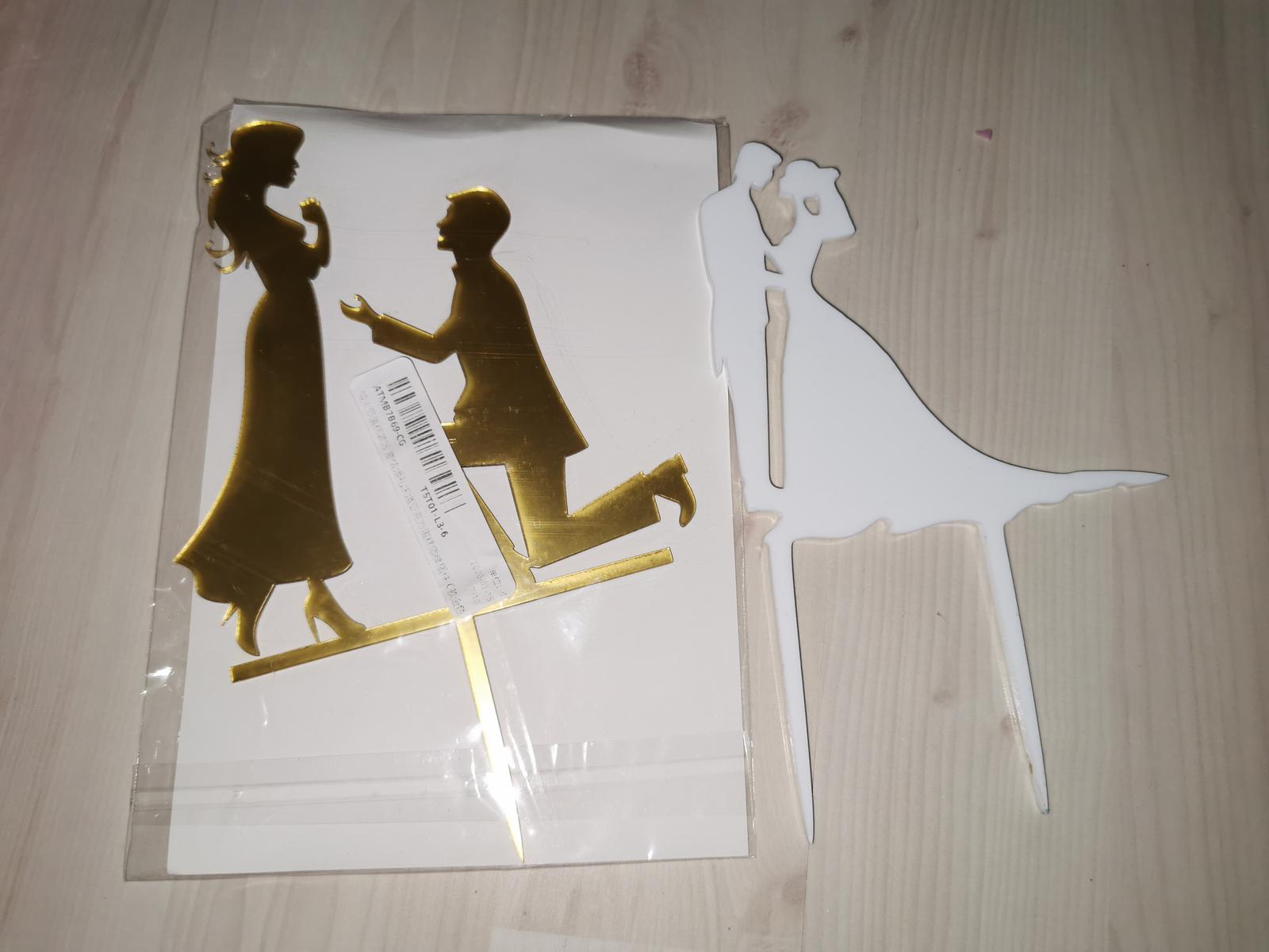 Svadobné postavičky na tortu - Obrázok č. 1