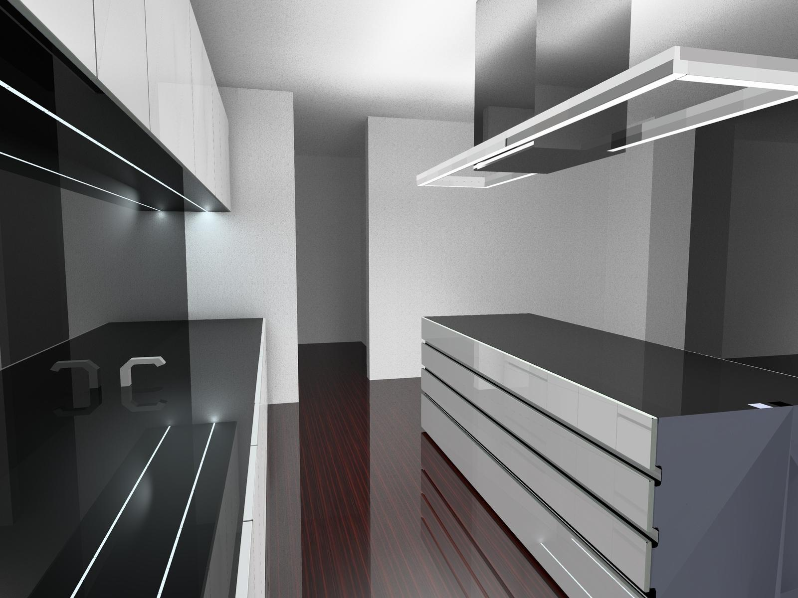 Black and white ... and atypical line lighting (Design by MB-Lights) - Obrázok č. 1