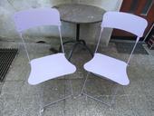 Skladacie kovové stoličky,