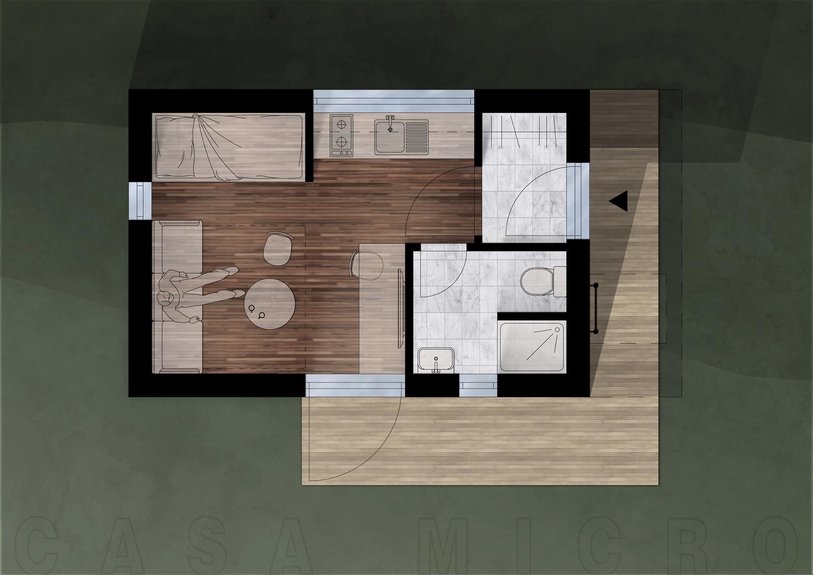 Casa Micro - Pôdorys