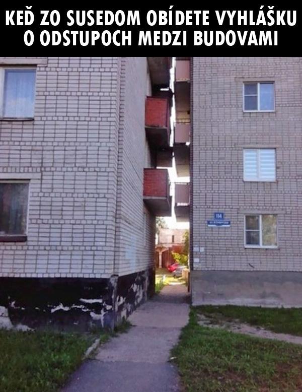 """Funny - """"je normalna vec ze ked som 3m od suseda a idem mu dat podpisat papier na stavebne tak sa ho opytam ze ci si mozem dat tie okna na jeho stranu a bezproblemov mi to podpise """""""
