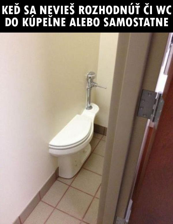 """Funny - """"je nezmysel aby niekto riesil kde je wc, ci zvlast alebo v kupelni, ved to zalezi na cloveku ako mu to lepsie vyhovuje"""""""