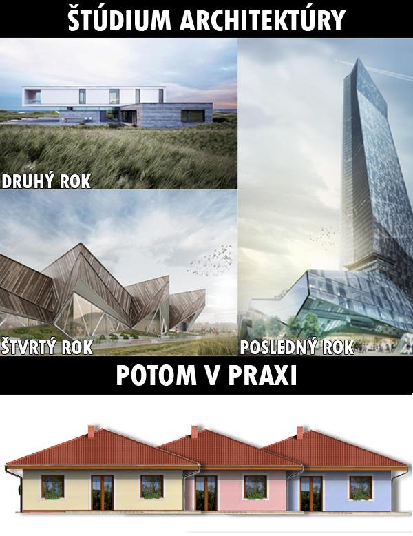 Funny - Štúdium verzus precitnutie v praxi mladého architekta