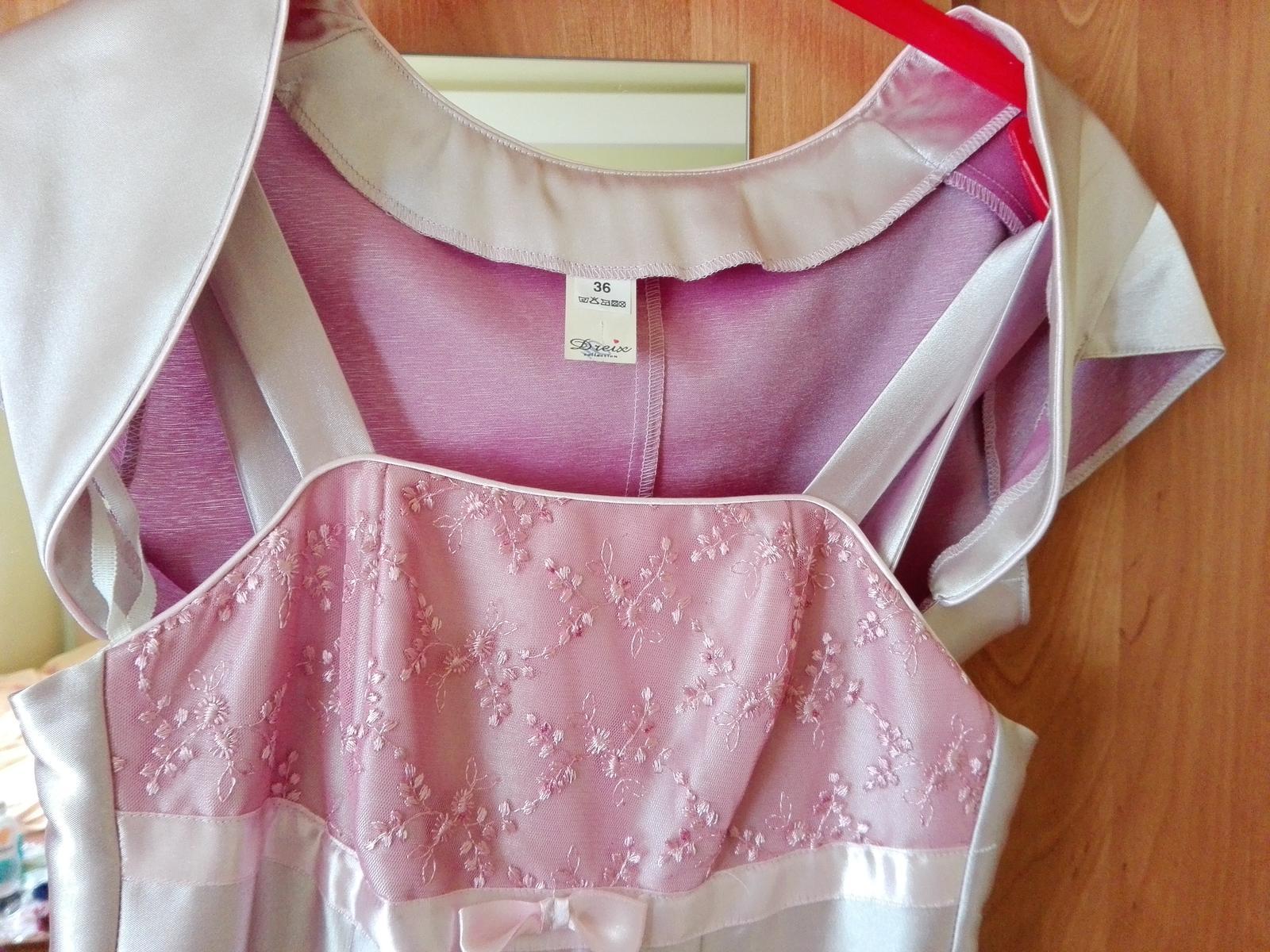 Žiarivé ružové šaty - Obrázok č. 3