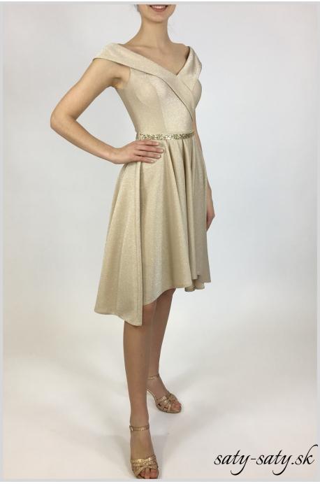exkluzívne zlaté šaty - Obrázok č. 1