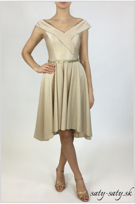 exkluzívne zlaté šaty - Obrázok č. 2