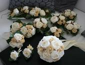 Svatební kytice+dekorace,