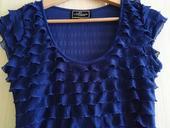 Krátke modré šaty, 38