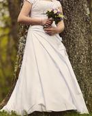 bílé saténové šaty vel. 42-44 - Madora, 42