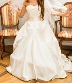 saténové svadobné šaty , 36