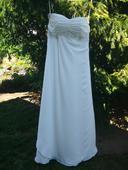 Jemně smetanové svatební šaty, vel. 38, 38