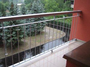Výhled z kuchyně, resp. balkónu