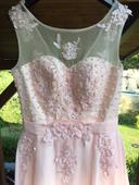 Ružové spoločenské šaty , 36