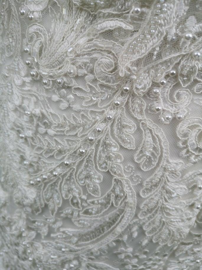 Ivory šatičky s perličkami  - Obrázok č. 3
